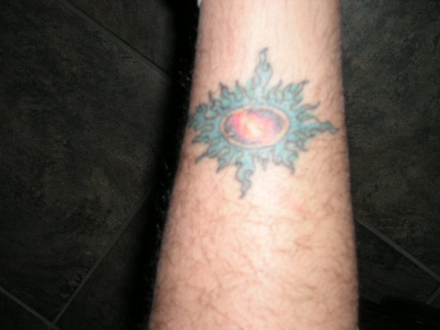 supernova star tattoo - photo #2